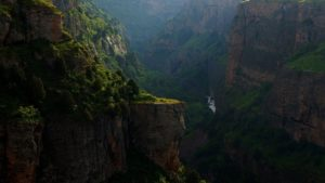 canyon, mountains, river